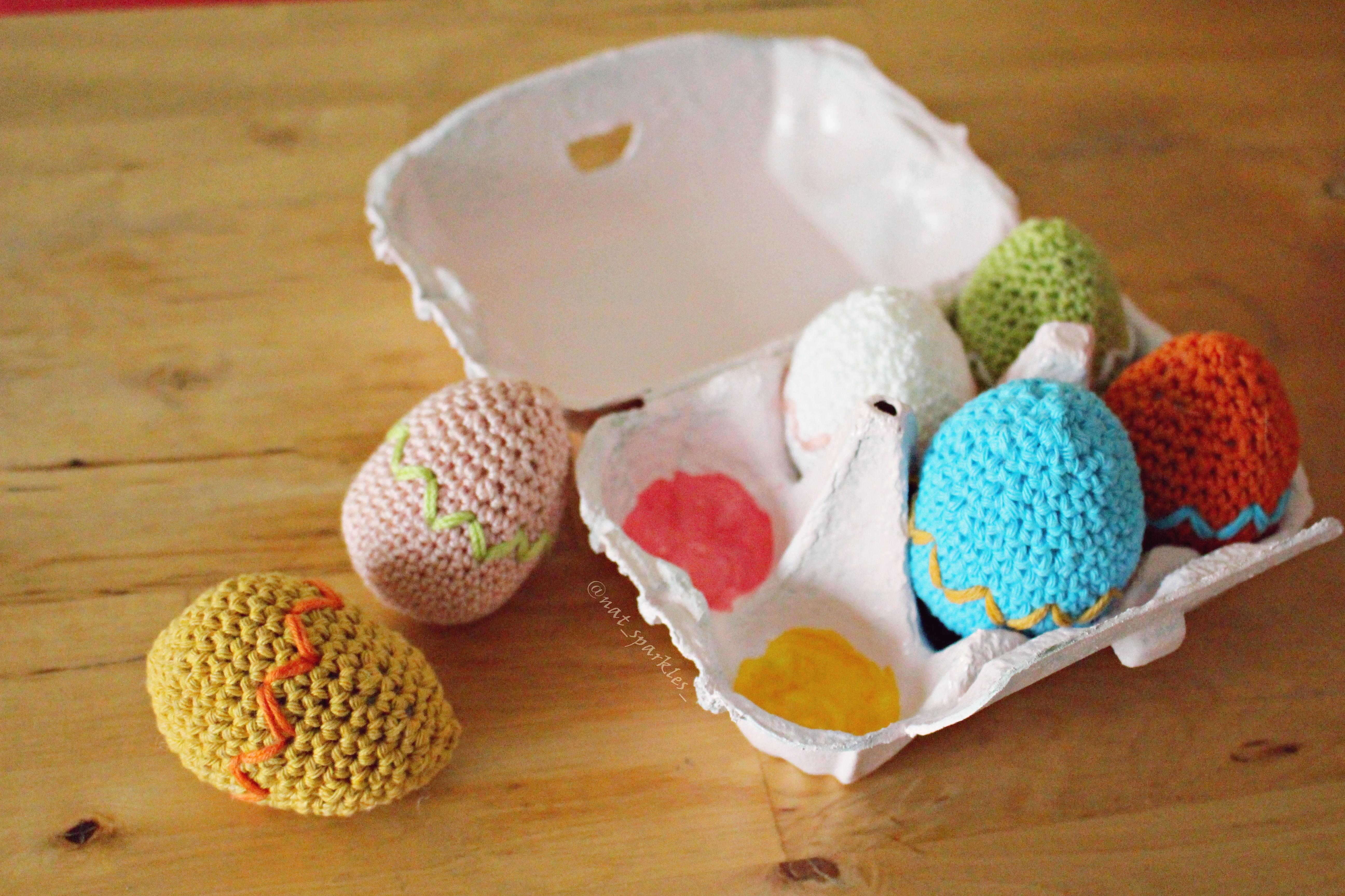 Huevos de pascua de ganchillo