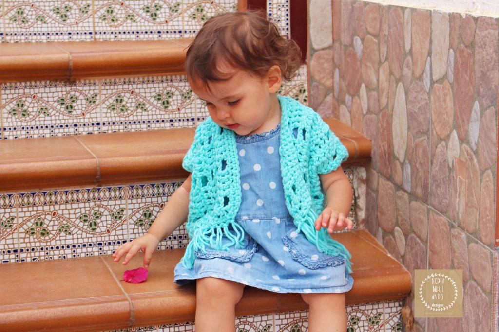 chaqueta kimono ganchillo bebé