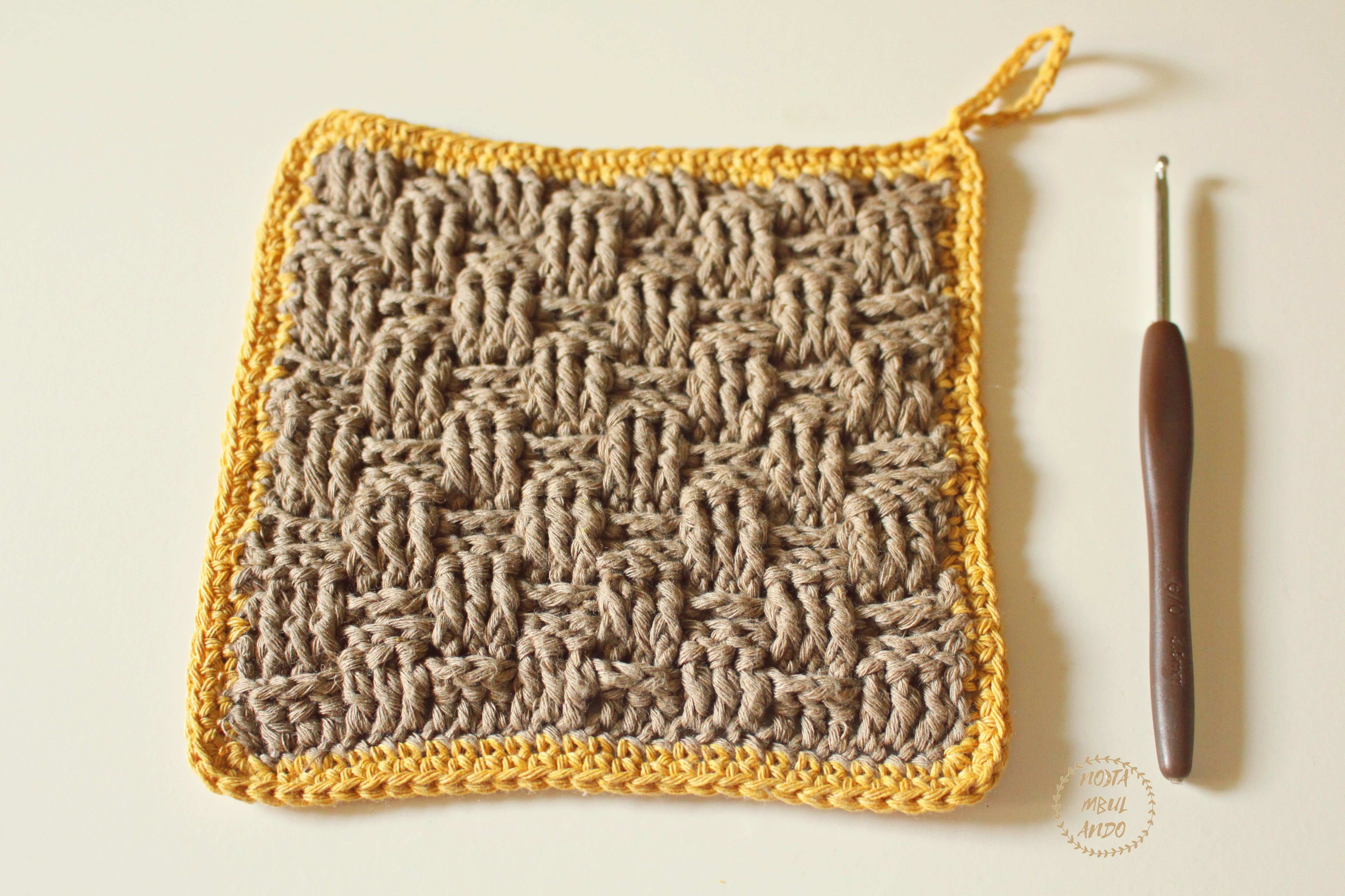 punto cesta crochet