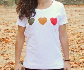 Camiseta Corazones