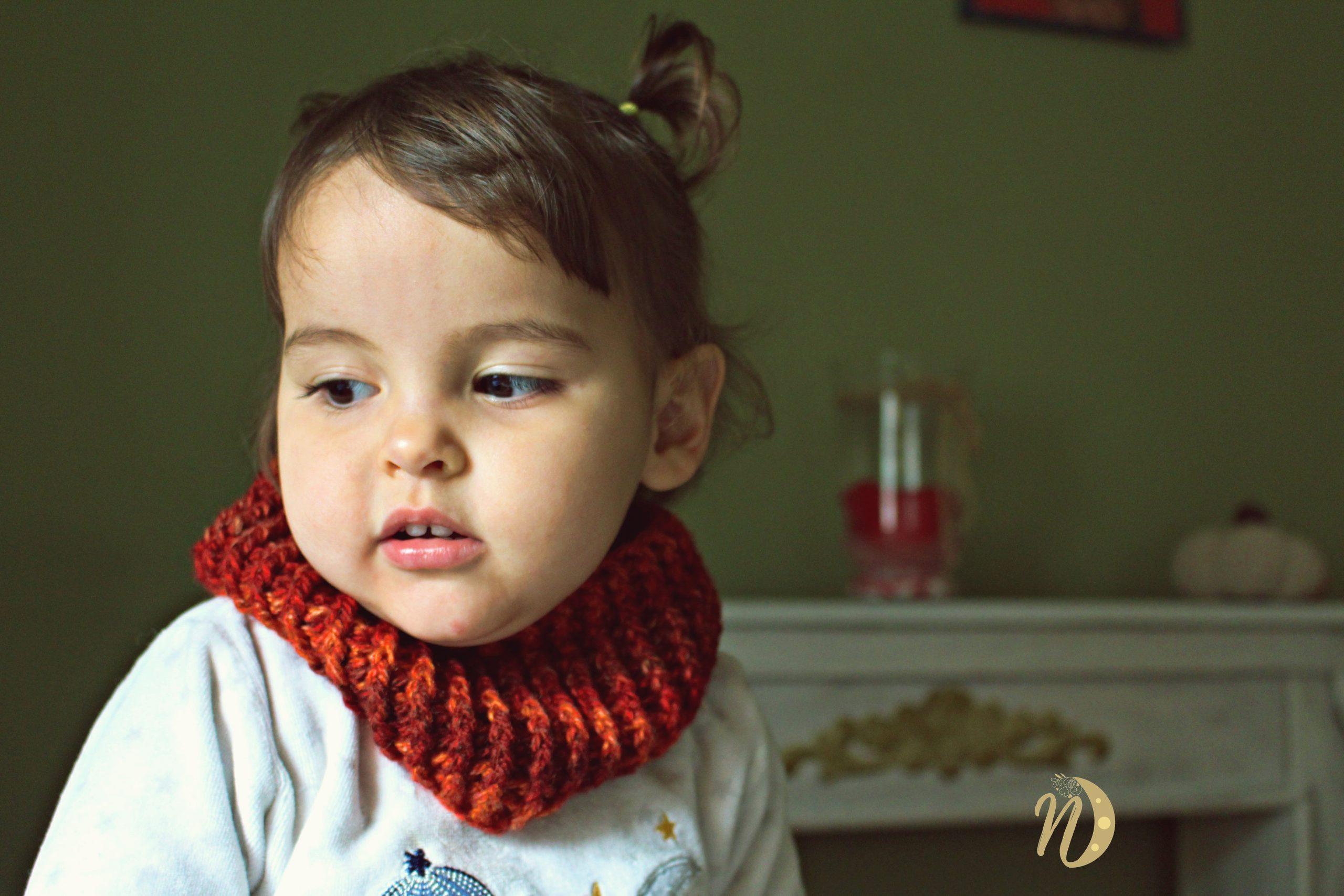 cuello de crochet bebé