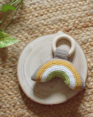 Mordedor crochet madera