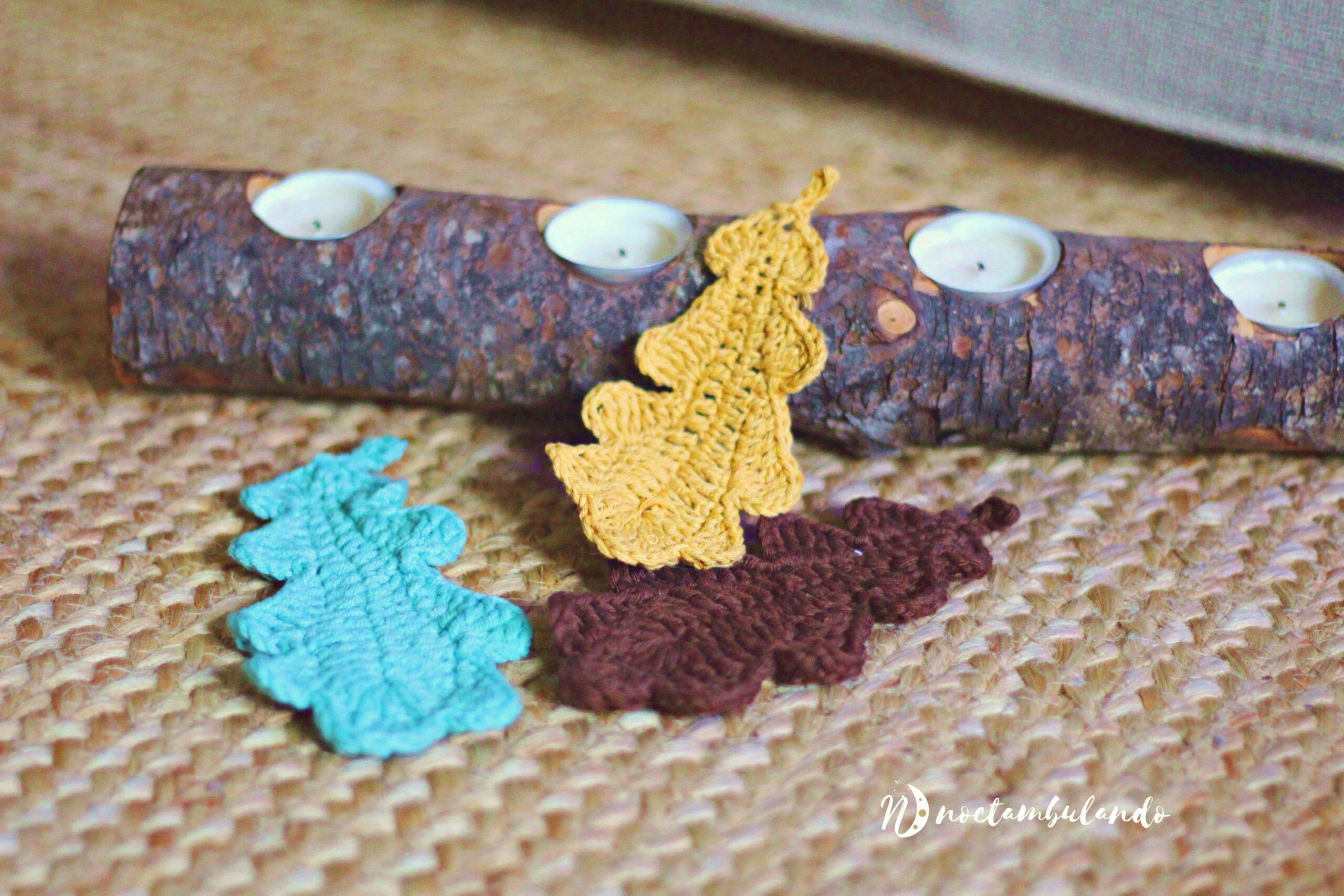 hojas de ganchillo
