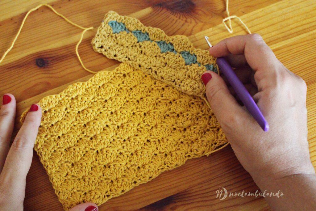 punto concha crochet